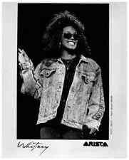 Whitney Houston on stage in denim Original Arista Records Promo 8x10 Photo