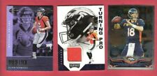 DREW LOCK RC JERSEY +ILLUSIONS ROOKIE CARD & PEYTON MANNING TOPPS CHROME BRONCOS