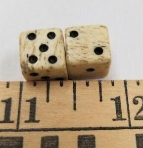 Civil War Era Small Pair Bone Dice