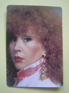 RARE Russian Singer ALLA PUGACHEVA 1989 Souvenir Pocket Calendar