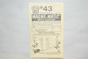 HO scale Kadee magne-matic operating knuckle couplers (2 pair) #43 short center