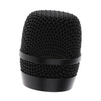 Finest Mesh Mic Ball Head Mesh Microphone Replacement Grill Head Black