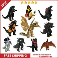 Set of 10 Godzilla Toys Movable Joint Birthday Kids Gift 2021 Action Figures