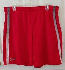 Under Armour Men's Basketball Shorts Loose Heatgear Pockets Red Sz Xl Nwot