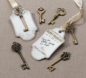 24 Bronze Key Tag Set For Guest Signing Wedding Memories Advice Tags
