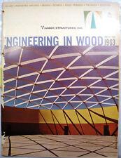 Vtg Timber Structures RETRO Catalog Glue Laminated Arches Engineered Wood 1963