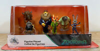Disney Store Zootopia PVC Figure Playset Figurine Play Set 6 Pc Cake Topper New