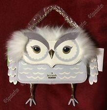 Kate Spade PXRU8337 Star Bright OWL Mini Jocelyn HandBag Clutch Grey NWT RARE!