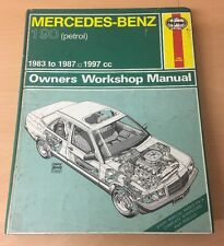 MERCEDES-BENZ 190 petrol 1983-87 Workshop Manual Haynes Reparaturanleitung H928