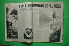 Loisirs 1955 Walter Bonatti Escalade Dru + Tenesse Williams + Gina Lollobrigida