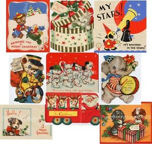 Vintage Christmas Greeting Cards V7 380 Images on CD