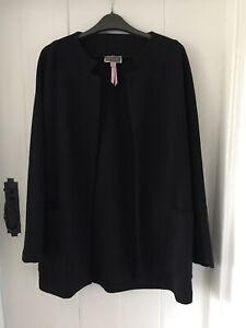 Lipsy Black Casual Blazer Jacket Long Sleeve Uk 12