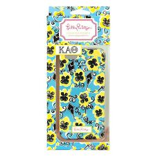 Lilly Pulitzer Case For iPhone 4/4s - Kappa Alpha Theta (Blue/Yellow/Black)