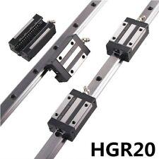 2pcs Linear Rail Guide Hgr20 800mm 1500mm4pcs Hgh20ca Bearing Block Set Cnc
