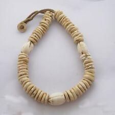 "Naga Sacred Conch Chank Shell Necklace 21"" Tibetan Nepalese Handmade UN1939"