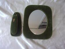 Ensemble miroir et brosse à vêtement année 50