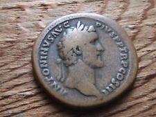 ROMAN.  ANTONINUS PIUS.  138-161 AD.  BRONZE SESTERTIUS.   RARE REVERSE TYPE.