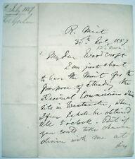1837 SIGNED LETTER THOMAS GRAHAM SCOTTISH CHEMIST TO BENNET WOODCROFT ENGINEER