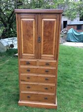 EDWARDIAN LINEN PRESS CUPBOARD / CHEST OF DRAWERS