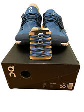 On Cloud Blue Denim Athletic Running Walking Shoes Mens Size 10 Blue New Box