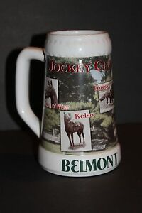 Belmont Racetrack Jockey Club Gold Cup Winner Limited Edition NYRA  Beer Stein