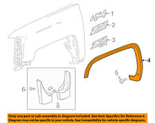GMC GM OEM Sierra 1500 Front Fender-Wheel Well Flare Arch Molding Right 23217178