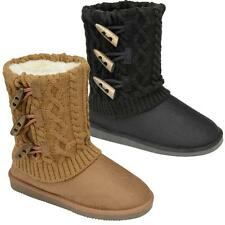 LADIES WINTER BOOTS WOMENS FUR THERMAL HUGG SNUGG SNOW MID CALF BOOTS SHOES SIZE