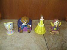 Set of 4 Vintage Disney Beauty & The Beast 1992 Pizza Hut Hand Puppet Toys