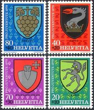 Switzerland 1979 Coats-of Arms/Welfare Fund/Unicorn/Grapes/Griffon 4v set n42544