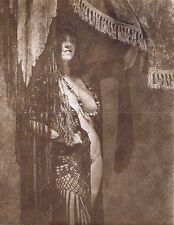 """Hendrickson Original Photo Sepia NUDE GYPSY WAITING FOR HER NEXT CLIENT 11x14"""""""