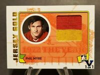 2015-16 ITG Final Vault Blue 1/1 2009-10 Phil Myre Game Used Jersey Gold /10
