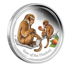 2016 PROOF Australia Lunar Year of the Monkey COLORIZED colore1oz SIlver $1 Coin