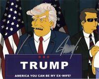Donald Trump / Simpsons 8x10 REPRINT Signed Photo Autographed REPRINT