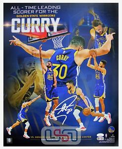 Stephen Curry Warriors Signed Autographed 16x20 Photograph Photo USA SM Auth #1
