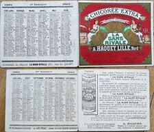 Chicoree Extra 1921 French Advertising Pocket Calendar/Trade Card/Booklet