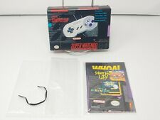 Nintendo SNSP-005 SNES Original Controller - Gray BOX & Sealed Inserts ONLY MINT