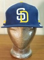 MLB San Diego Padres Baseball Vintage SGA Hat Cap BDA Blue Mesh Back Adj. COX.
