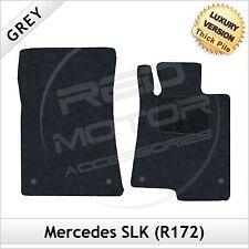 Mercedes SLK R172 2011 adelante Tailored de lujo 1300g Alfombra Coche Tapetes Gris