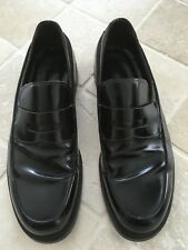 MENS, PRADA,  ITALIAN SHOES, SMART LOAFERS, WORKWEAR, DARK BROWN LEATHER SIZE 10