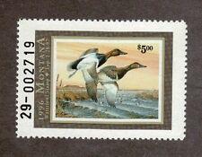 MT11 - Montana State Duck Stamp. MNH. OG.Single #02 MT11