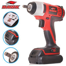 "HAWK TOOLS 3/8"" 14.4v li-ion CORDLESS IMPACT WRENCH RATCHET RATTLE GUN TOOL KIT"