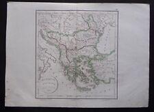 § carte Turquie d'Europe - Félix Delamarche 1828