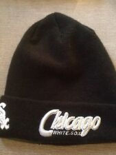 NEW ERA MLB Chicago White Sox Polsino Nero Cappello Beanie Caldo Cappello Invernale