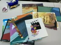 LOT OF 15 PINK PANTHER PRODUCTION BACKGROUND-HAND PAINTED CEL STUDIO PROMO 10481