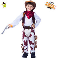 Halloween Party Cool Cowherd Cosplay Outfits Western Cowboy Costume for Children