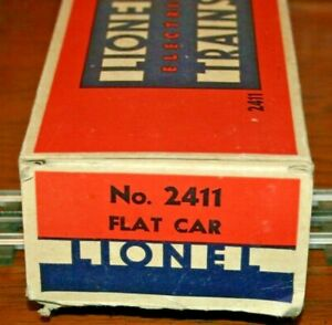 Lionel 2411 FLAT CAR in NICE original condition in original box,