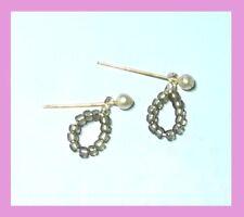 Dreamz BARBIE IN MEXICO CRYSTAL LOOP BEAD EARRINGS Doll Jewelry VINTAGE REPRO