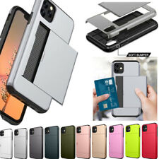 Shockproof Card Slot Holder Armor Hard Case For iPhone XS 11 Pro Max XR 8 7 Plus
