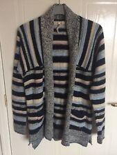 WHITE STUFF Blue Grey Purple Cream Striped Cardigan Alpaca Size 10