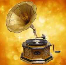 Gramophon + Sound Master 8eckig Kirschbaumf braun Musikinstrumente Mechanische
